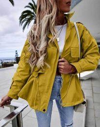 Атрактивно дамско яке в  цвят горчица - код 7866
