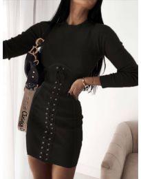 Елегантна дамска рокля в черно - код 4453