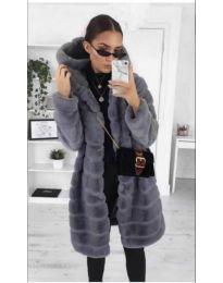 Дамско палто в сиво - код 279