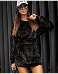 Дамска рокля в черно - код 8989