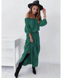 Дамска рокля в маслено зелено - код 1317