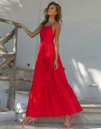 Феерична рокля в червено - код 2991