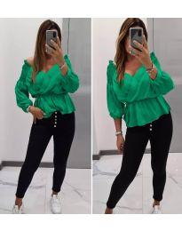 Дамска блуза в зелено - код 7771