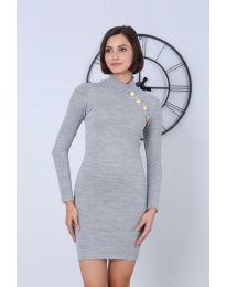 Дамска рокля в сиво - код 7099
