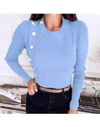 Дамска блуза в светлосиньо - код 9989