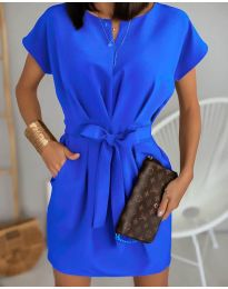 Елегантна рокля в синьо - код 772