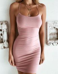 Изчистена рокля в розово - код 9098