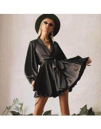 Елегантна рокля в черно - код 2428
