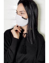 Бяла двупластова маска за уста - код 011