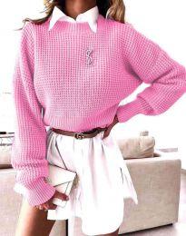 Дамски пуловер в розово - код 4180