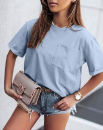 Изчистена тениска в синьо - код 11953