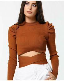 Дамска блуза в кафяво - код 4519