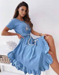 Атрактивна дамска рокля в синьо - код 11893