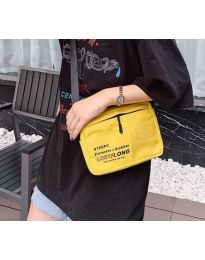 Дамска чанта в цвят горчица спортен модел с дълга дръжка - код B28-822