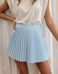 Дамска къса плисирана пола тип панталонки в светлосиньо - код 8787