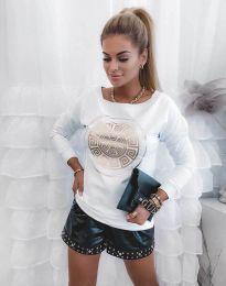 Атрактивна дамска блуза в бяло - код 4823