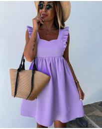 Стилна рокля в лилаво - код 818
