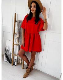 Елегантна къса рокля в червено - код 789
