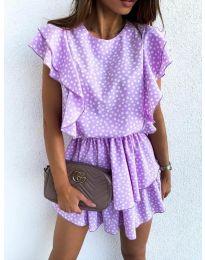 Свободна рокля в лилаво - код 7740