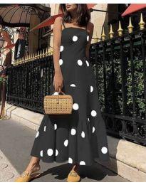 Дълга феерична рокля в черно - код 7011