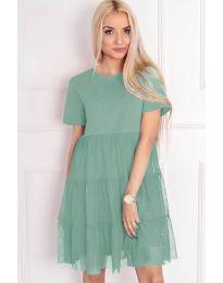 Свободна рокла в цвят мента - код 417