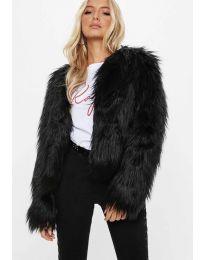 Дамско късо палто в черно - код 4767