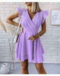 Екстравагантна рокля в лилаво - код 409