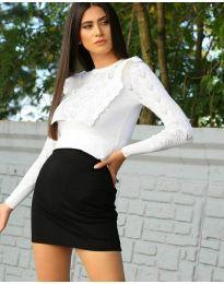 Дамска блуза в бяло - код 2214