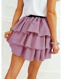 Къса пола на волани в лилаво - код 913