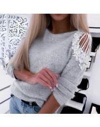 Дамска пуловер в сиво - код 7373