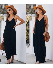 Свободна дълга рокля в черно - код 0209