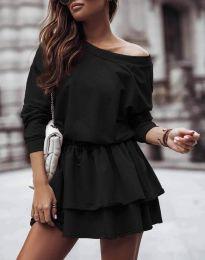 Дамска рокля  в черно - код 0525