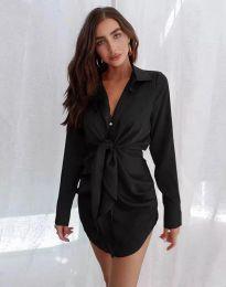 Атрактивна дамска рокля в черно - код 5866
