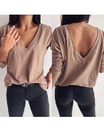 Дамска блуза в тъмнобежово - код 3330
