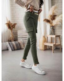Дамски панталон в масленозелено - код 5130