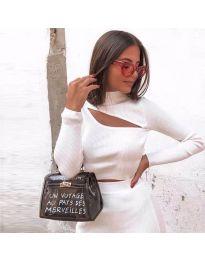 Дамска блуза в бяло - код 9622