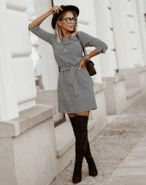Дамска рокля с ефектен десен - код 3794 - 2