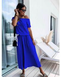 Изчистена рокля в синьо - код 4151