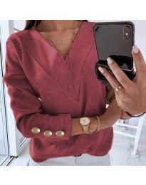 Дамска блуза в бордо - код 0990