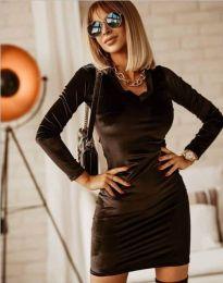 Изчистена рокля в черно - код 4161