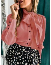 Елегантна дамска риза в розов цвят - код 971