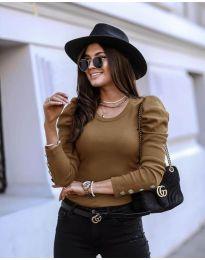 Дамска блуза в кафяво  - код 4448