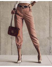 Дамски панталон в цвят корал - код 2490