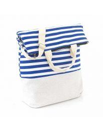 Плажна чанта на райе - код H - 9029 - 2