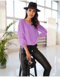Елегантна дамска блуза в лилаво - код 5165