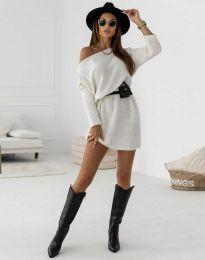 Дамска рокля в бяло - код 6940