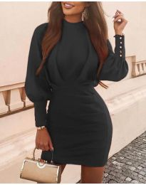Дамска рокля в черно  - код 4016