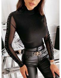 Елегантна дамска блуза в черно - код 4188