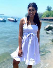 Лятна рокля в бяло - код 8113