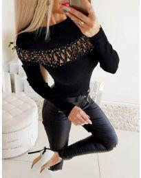 Елегантна дамска блуза в черно - код 3511